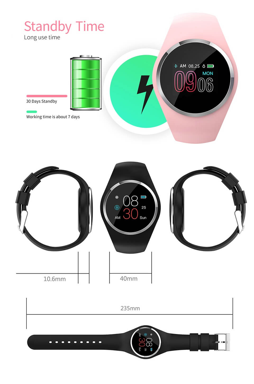 DIGOOR Q1 Fitness bracelet woman IP67 waterproof Support Blood pressure Blood oxygen Monitoring Heart Rate tracker Smart watch (17)