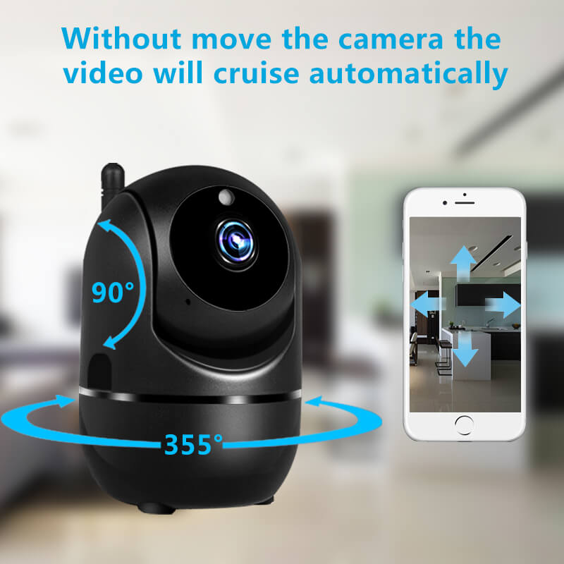 Wifi Home Security Camera And Baby Monitor Wireless Smart System Black