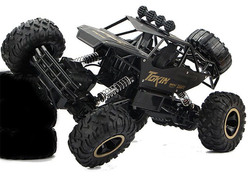 Big Remote Control Truck Monster Rc Trucks 4x4 Rock Crawler Black