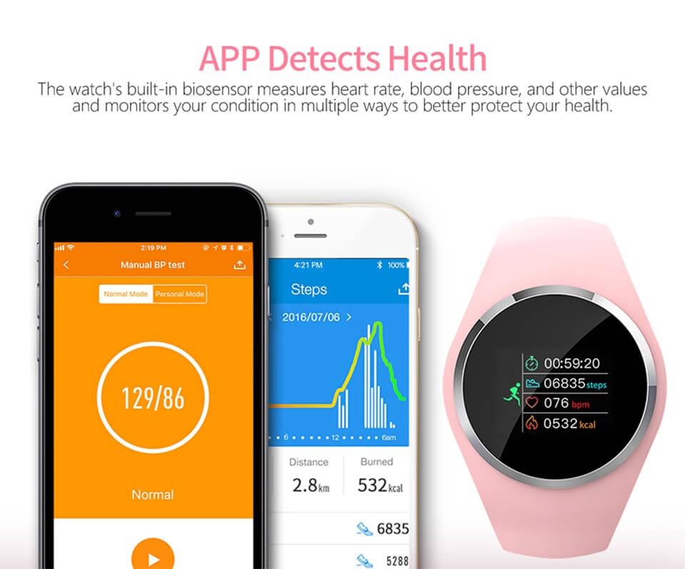 DIGOOR Q1 Fitness bracelet woman IP67 waterproof Support Blood pressure Blood oxygen Monitoring Heart Rate tracker Smart watch (9)