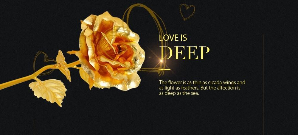 24K Gold Plated Rose Flower Creative Birthday Anniversary Gift- Golden